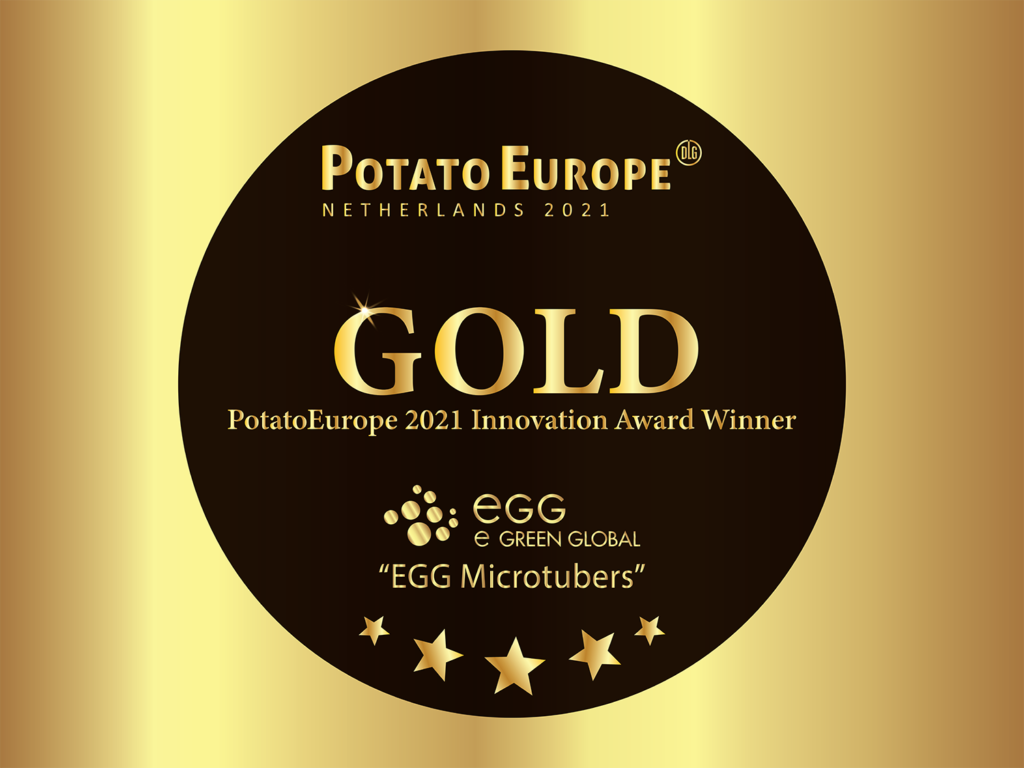 PotatoEurope's Golden Innovation Award, received by EGG Microtubers